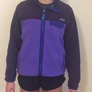 Patagonia Fleece Synchilla Purple Zip Up